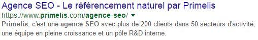 résultat naturel google