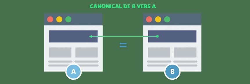 test canonical deux pages au contenu identique