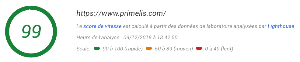 google page speed report