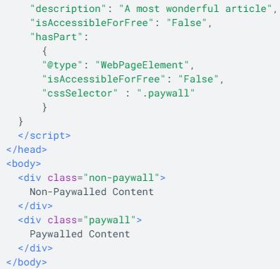 données structurées paywall seo