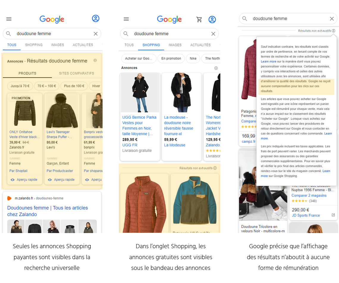 google shopping gratuit en france